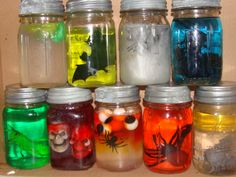 Ghoulish jars with the help of Jello