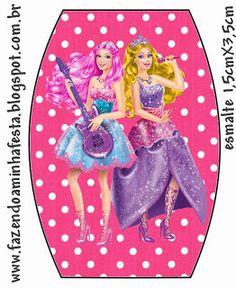 Imprimibles, imágenes y fondos Barbie Princesa y Pop Star 7.   Ideas y material…