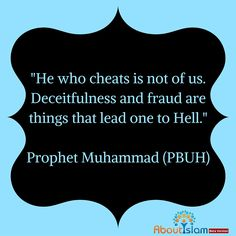Do not cheat or be deceitful. It is not allowed in Islam.