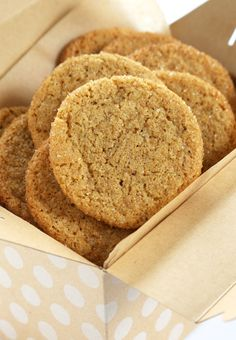 Soft and Chewy Gluten Free Ginger Cookies | Gluten Free on a Shoestring