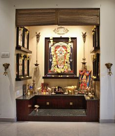 JP Indian Contemporary Home – İndian Living Rooms Temple Design For Home, Indian Home Design, Indian Home Decor, Indian Home Interior, Pooja Room Door Design, Home Room Design, Home Interior Design, Interior Designing, Temple Room