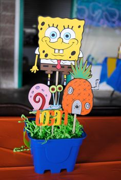 126 best spongebob party images tropical party 1 year birthday rh pinterest com