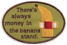 Arrested Development Banana Stand Patch by StoriedThreads on Etsy, $9.00