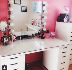 DIY makeup vanity without the hello kitty crap
