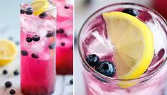 Blueberry Lemonade - Made with an easy blueberry syrup this lemonade is so refreshing sweet and tangy! It's the BEST lemonade ever! Best Blueberry Recipe, Blueberry Syrup, Blueberry Lemonade, Blueberry Desserts, Strawberry Lemonade, Refreshing Drinks, Summer Drinks, Fun Drinks, Beverages