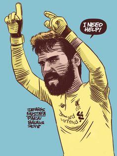 Baung Vintage — The last defence need help! Liverpool Wallpapers, Antoine Griezmann, Steven Gerrard, Goalkeeper, Liverpool Fc, Cartoon Images, Best Artist, Premier League, Digital Illustration