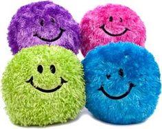 Amazon.com: Fun & Fuzzy Smiley Face Throw Pillow, Lime: Home & Kitchen $17