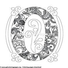 Zentangle Monogram Alphabet Letter Q Coloring Sheet Letter C Coloring Pages, Fox Coloring Page, Coloring Letters, Butterfly Coloring Page, Unicorn Coloring Pages, Pattern Coloring Pages, Cute Coloring Pages, Mandala Coloring Pages, Free Printable Coloring Pages
