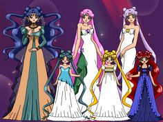 Silver Millenium Familly by nads6969.deviantart.com on @deviantART Sailor Moon Toys, Sailor Chibi Moon, Sailor Mars, Sailor Princess, Moon Princess, Venus Jupiter, Sailor Moon Wallpaper, Moon Illustration, Millenium