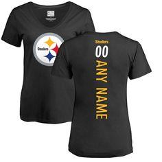 120e332e9 Pittsburgh Steelers NFL Pro Line Women s Personalized Backer Slim Fit T- Shirt - Black Jacksonville