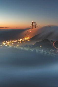 Urban Landscape | Fog over Golden Gate Bridge | San Francisco, CA