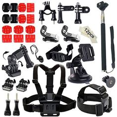 44 Piece GoPro Hero 1-5 Action Camera Accessory Kit