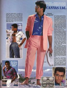 Image result for 80s men fashion catalogue