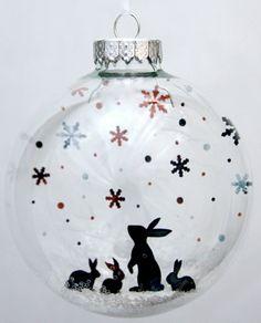 PREORDER+Snow+Bunnies++Holiday+Ornament+di+GlakLove+su+Etsy,+$15,00
