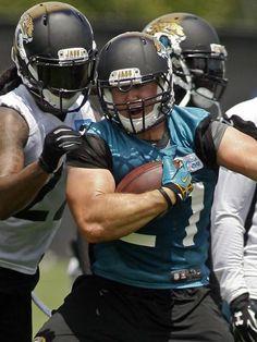 Jaguars RB Toby Gerhart (21) goes