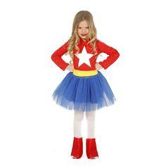 Disfraz de Wonderwoman Infantil #disfraces #carnaval #novedades2016 Super Heroine, Homemade Costumes, Super Hero Costumes, Blouse Dress, Cheer Skirts, Children, Kids, Harajuku, Aurora Sleeping Beauty