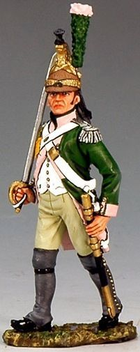 Napoleon's Grande Armée NA172 Dragoon Officer Marching with Sword - Made by King and Country Military Miniatures and Models. Factory made, hand assembled, painted and boxed in a padded decorative box. Excellent gift for the enthusiast.
