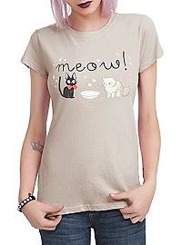 HOTTOPIC.COM - Studio Ghibli Her Universe Kiki's Delivery Service Meow Girls T-Shirt