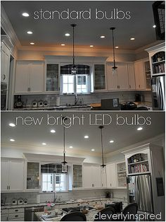 How To Light Any Room Kitchen Dining Pinterest Island Bar - Bright led kitchen ceiling light