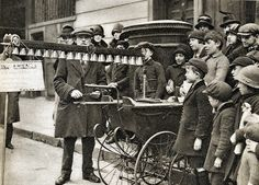 London in the 1920's-portable bells and pram