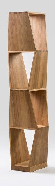 Geometric Wooden Shelves