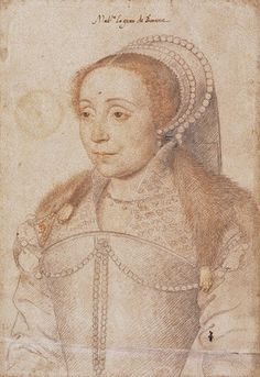 François Clouet: Claude de Chateaubrun de Beaune, dame de Gouffier- 3° femme de Claude Gouffier, dite Mme Le Grand