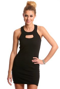 Perfect little black dress.  Punched Out Black Dress