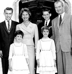 Jimmy Stewart with family, circa 1960