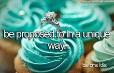 Every girl should have a proposal that makes them feel like the most special girl in the world. This is my idea of a perfect proposal. Beautiful ring in a Tiffany blue cupcake. Tiffany Blue, Tiffany Theme, Tiffany Party, Dream Wedding, Wedding Day, Wedding Rings, Wedding Stuff, Wedding Dreams, Wedding Bells