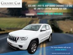 £22,490 | 2013 13 JEEP GRAND CHEROKEE 3.0 CRD V6 LIMITED STATION WAGON 4X4 5DR FINANCE OPTIONS AVAILABLE                            For more details call us on 01926 267813