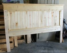 DIY Farmhouse Headboard {how to} * Click image for more details.
