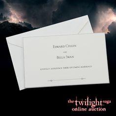 Twilight Online, Prop Store, Bella Swan, Edward Cullen, Breaking Dawn, Movie Collection, Twilight Saga, Wedding Invitations, Marriage
