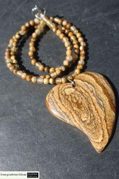 * LANDSCHAFTSJASPIS helle KARNEOL Herz KETTE Picture Jasper Carnelian Necklace * Beaded Bracelets, Necklaces, Healing, Gemstones, Ebay, Jewelry, Fashion, Carnelian, Moda