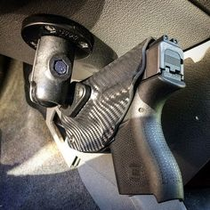 RAM Mounted Dara Holster! Patented design. Daraholsters.com @daraholsters Patent Pending Vehicle Holster by Dara Holsters.com