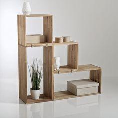 Étagère cube rangement, chêne massif, Edgar (lot d La Redoute Interieurs | La Redoute Mobile