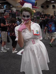 Check out the best costumes from one of the greatest cosplay events in the country. Female Villain Costumes, Female Joker Cosplay, Superhero Costumes Female, Female Villains, Joker Nurse Costume, Nurse Halloween Costume, Halloween Cosplay, Diy Costumes, Cosplay Costumes