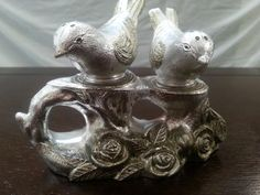 Vintage Silver Plated Love Birds Salt And Pepper by YouandIvintage, $12.00 cake topper
