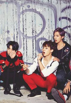 BTS | JUNG KOOK JIMIN and V ( this picture must have been taken when they made 'war of hormone' )