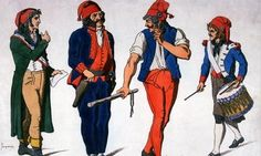 Sans-Culottes: Sans-culottes are the longer more free styles pants that men began wearing during the French Revolution when breeches started becoming dissolved.