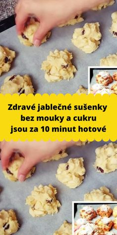 Zdravé jablečné sušenky bez mouky a cukru jsou za 10 minut hotové Healthy Dessert Recipes, Healthy Desserts, Low Carb Recipes, Easy Dinner Recipes, Peanut Butter Muffins, Czech Recipes, Biscuit Recipe, How Sweet Eats, Sweet Recipes