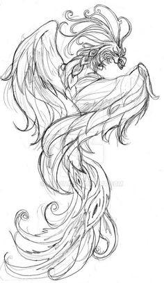 Super phoenix bird sketch how to draw 64 Ideas Phoenix Tattoo Feminine, Phoenix Bird Tattoos, Phoenix Images, Phoenix Art, Phoenix Design, Phoenix Tattoo Design, Tattoos Skull, Sleeve Tattoos, Wing Tattoos