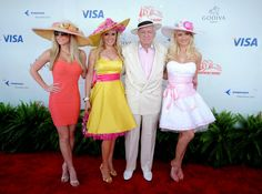 Hugh Hefner and Holly Madison Photos: Celebrities At The Kentucky Derby