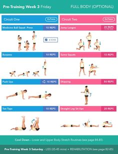 Image result for kayla itsines pre training week 3 friday