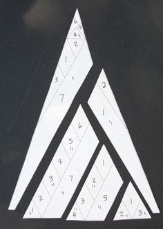 Yes, it's time for another triangle. Foundation pieced.  Print or trace the block diagram onto foundation paper, number, and cut out as in t...