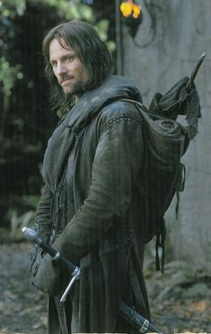 'Aragorn, aged 210 years, was the son of Arathorn II and Gilraen. He was a Chieftain of the Dunadain and a direct descendant through many generations of Isildur, the last High King of both Arnor and Gondor. Aragorn would become the greatest Man of his time, leading the Men of the West against Sauron's forces, helping to destroy the One Ring, and reuniting the Kingdoms of Arnor and Gondor.' -Tolkien-