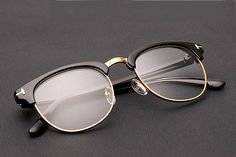 825bb5256377e Retro Clubmaster Wayfarer Clear Lens Nerd Frames Glasses Mens Womens ...