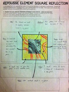 Project ART-A-DAY: Lesson: Repousse Element Square