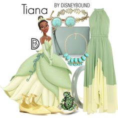 Tiana by leslieakay on Polyvore featuring Saloni, Jimmy Choo, FOSSIL, Effy…