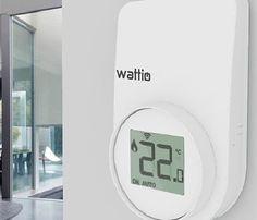 Controla estés donde estés la temperatura y realiza una planificación semanal.  #Termostato #termostatointeligente #calefaccion #domotica Digital Alarm Clock, Home, Sands