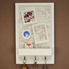 Armarinho Quadro Porta-Chaves e Cartas                                                                                                                                                      Mais